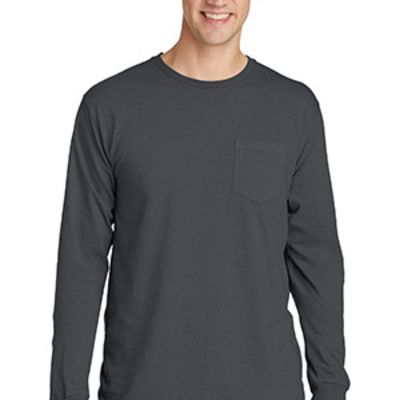 Beach Wash ™ Garment Dyed Long Sleeve Pocket Tee Thumbnail