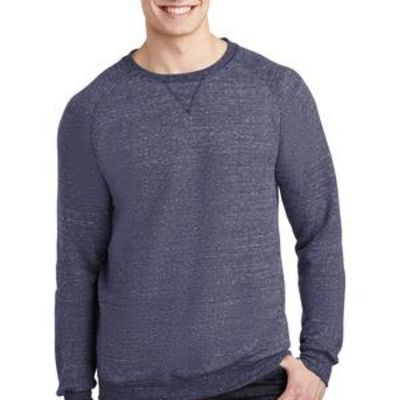 Snow Heather French Terry Raglan Crew Thumbnail