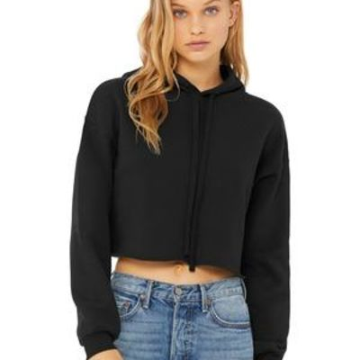 Women's Sponge Fleece Cropped Fleece Hoodie Thumbnail