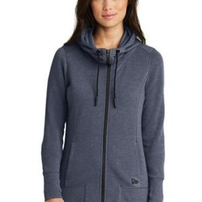 ® Ladies Tri Blend Fleece Full Zip Hoodie Thumbnail