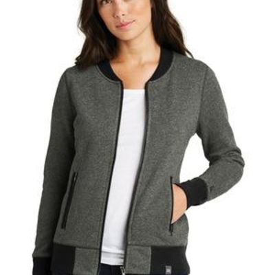 ® Ladies French Terry Baseball Full Zip Thumbnail