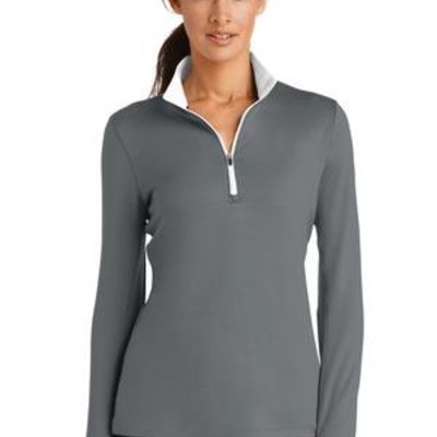 Ladies Dri FIT Stretch 1/2 Zip Cover Up Thumbnail