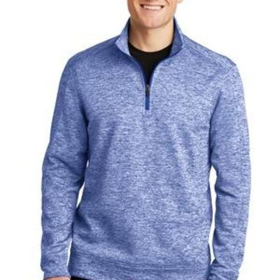 PosiCharge ® Electric Heather Fleece 1/4 Zip Pullover Thumbnail