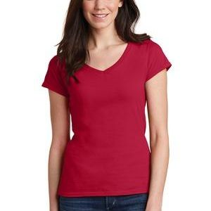 Softstyle ® Junior Fit V Neck T Shirt Thumbnail